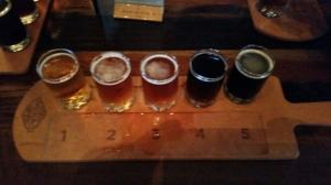 Beer Flight at Town Hall
